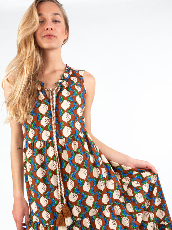 Maxi-Kleid im Boho-Stil von La Camicica