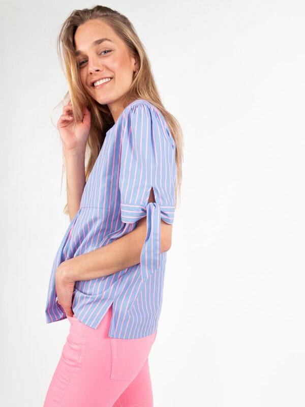 Bluse mit Streifen von REYER