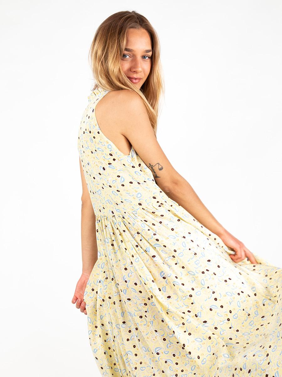 Maxi-Seiden Kleid mit Print von MII