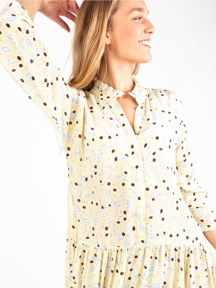 Maxi-Seiden-Kleid mit Print von MII