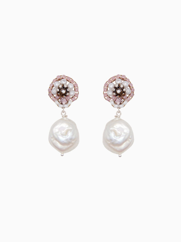 Ohrringe WHITE ROSE PEARL von MASCHALINA