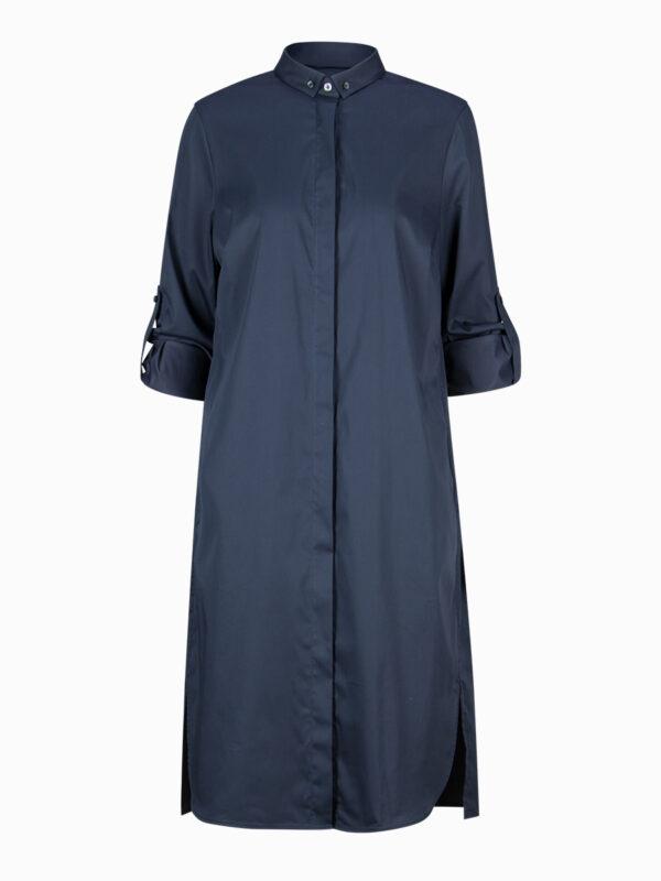 Hemdblusenkleid dunkelblau von Soluzione