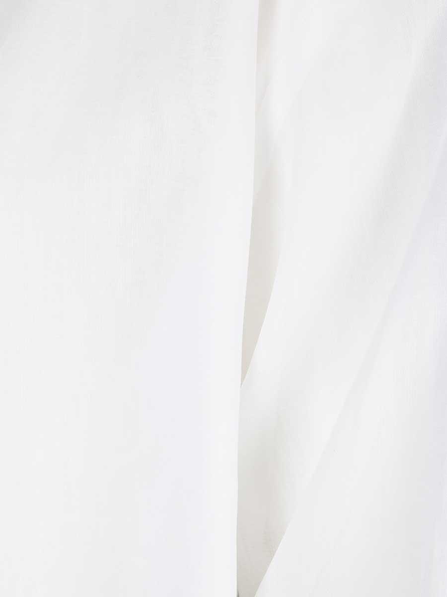 Baumwoll-Top weiss transparent von Wright