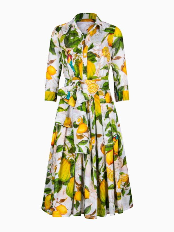 Kleid AUDREY mit Zitronen-Print von Samantha Sung