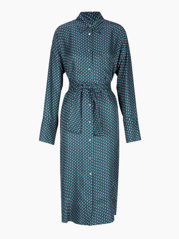 Midi-Kleid mit Print von ODEEH
