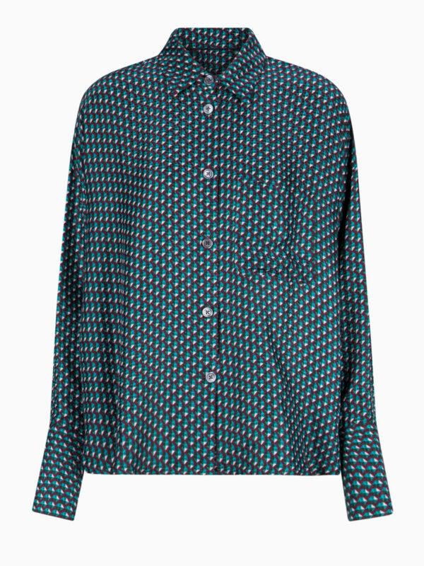 Bluse mit Grafik-Print von ODEEH