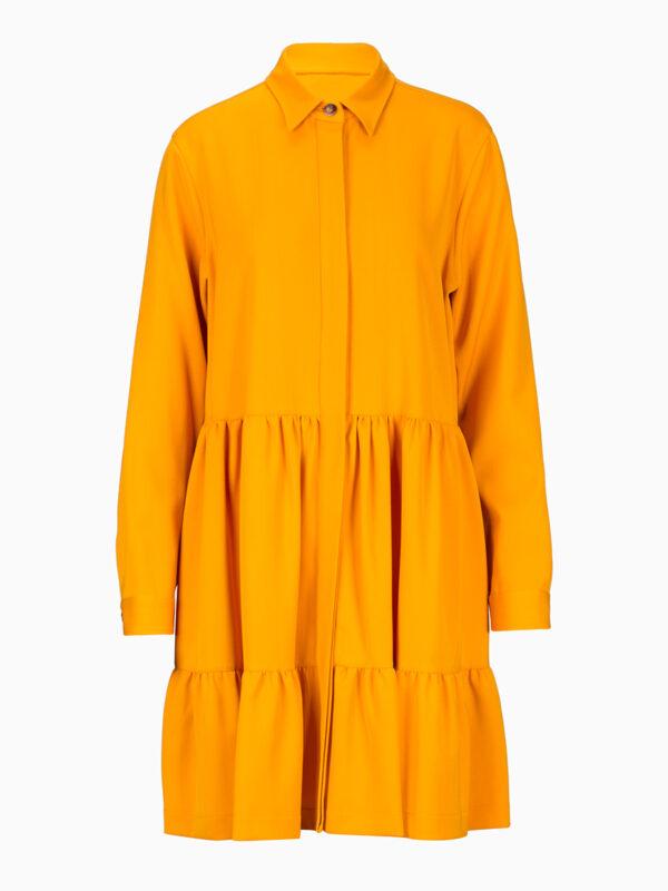Midi-Kleid mit Hemdkragen von CALIBAN