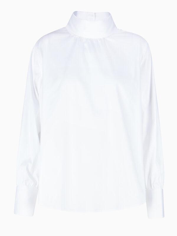 Bluse mit Stehkragen von SOLUZIONE