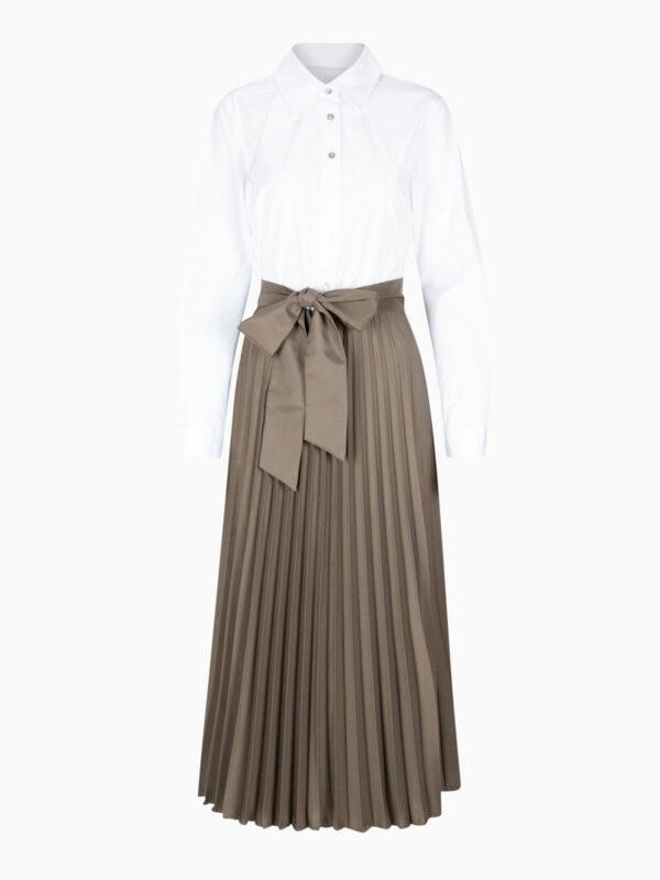Hemdblusenkleid mit Plissée-Rockteil von LA CAMICIA