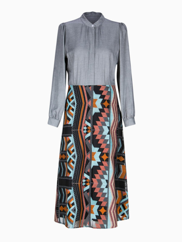 Kleid mit Grafik-Stickerei von LA CAMICIA