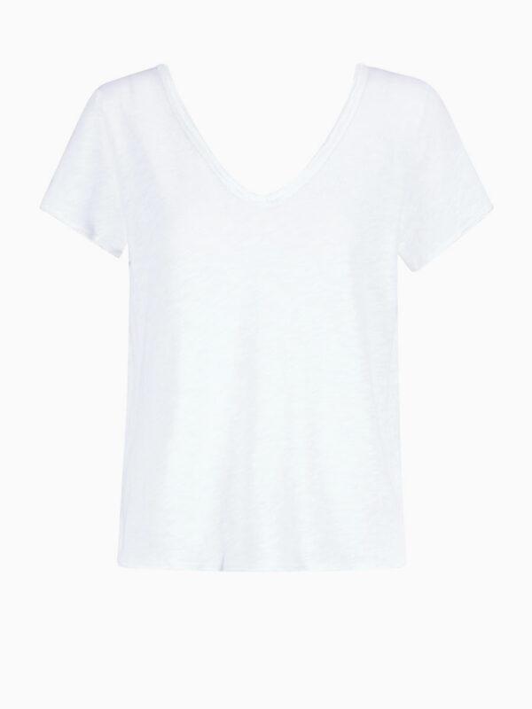 T-Shirt mit breitem V-Ausschnitt von AMERICAN VINTAGE