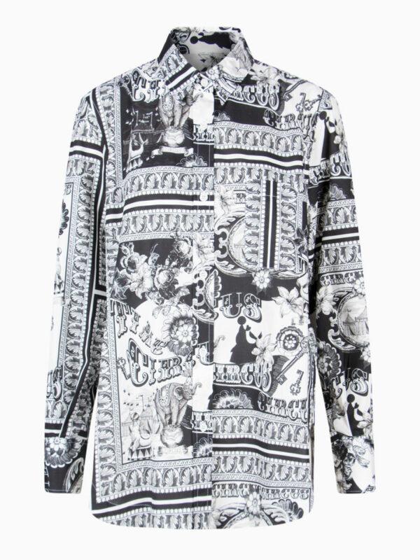 Bluse mit Print von CALIBAN