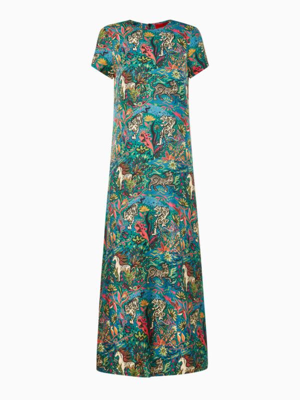 Swing-Dress aus Seide von La DoubleJ