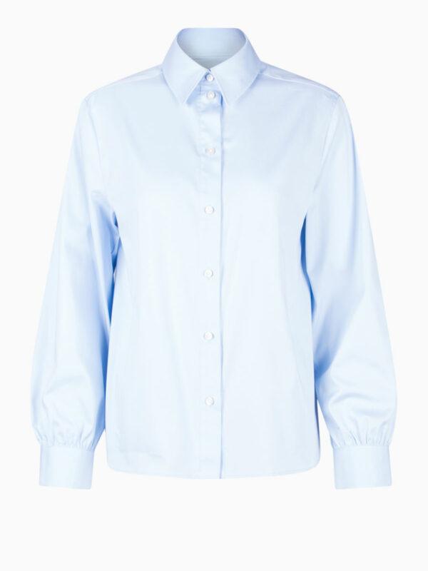Oversize-Bluse mit Hemdkragen von SOLUZIONE