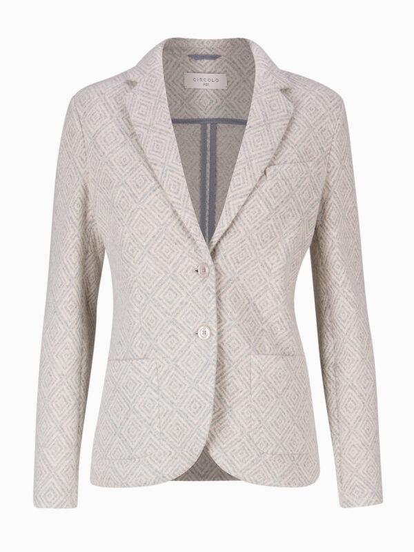 Woll-Blazer mit Print von CIRCOLO1901