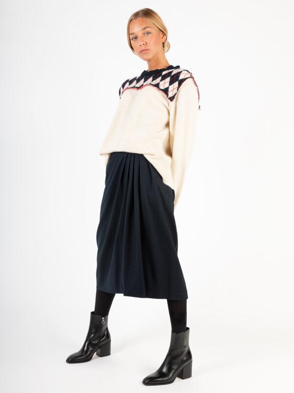 Faltenrock aus Wolle von Odeeh
