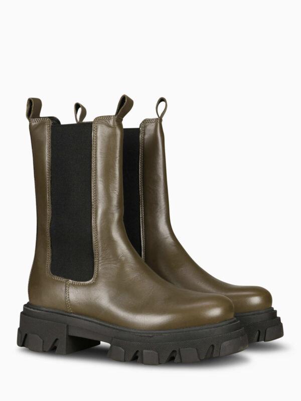 Ankle Boot URATO oliv von Shoe biz Copenhagen